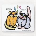 SINGING CATS MOUSEPAD ara artist