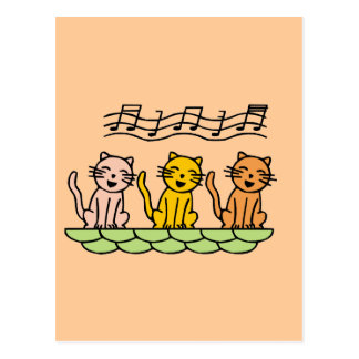 Singing Cats Tshirts and Gifts Postcard