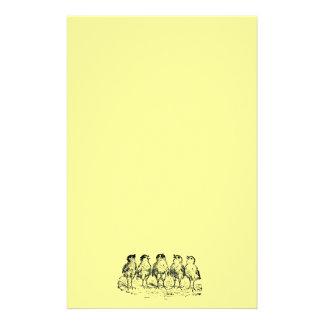 Singing Chicks Stationery