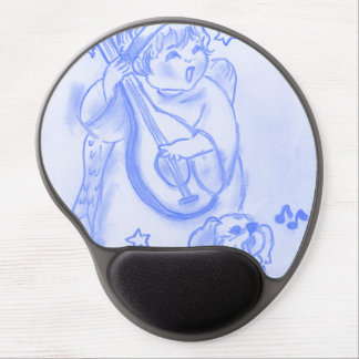 Singing Christmas Angel with Puppy Gel Mouse Pads