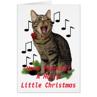 Singing Christmas Cat Card