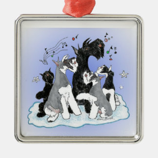 Singing Christmas Schnauzer Ornament