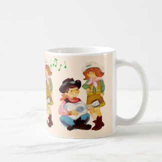Singing Cowboy and Cowgirl Kids Coffee Mug