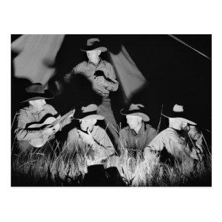 Singing Cowboys, 1939 Postcard