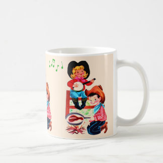 Singing Cowgirl and Cowboy Kids Coffee Mug