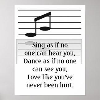 Singing Dancing and Loving - Art print