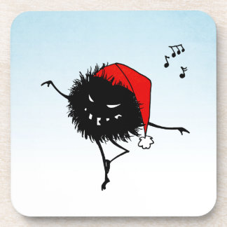Singing Dancing Evil Christmas Bug Beverage Coaster