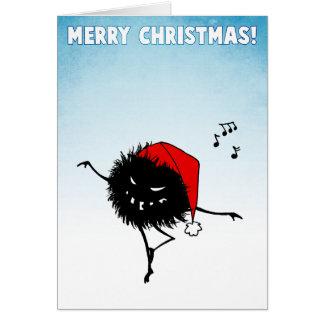 Singing Dancing Evil Christmas Bug Card