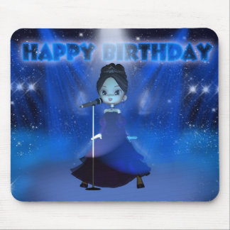 Singing Deva Birthday Mousepad With Cute Singer