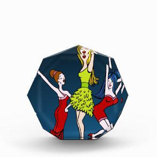 Singing Diva Musical Artist Cartoon Character Acrylic Award