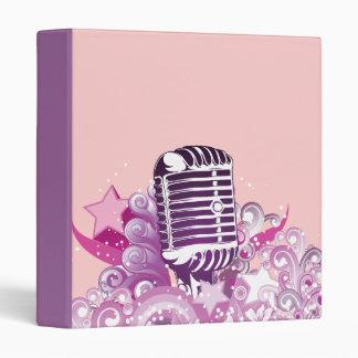 singing diva vintage microphone vector 3 ring binder