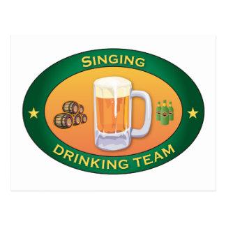 Singing Drinking Team Postcard