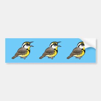 Singing Eastern Meadowlark Car Bumper Sticker
