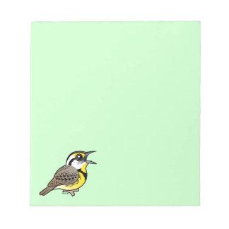 Singing Eastern Meadowlark Memo Pads