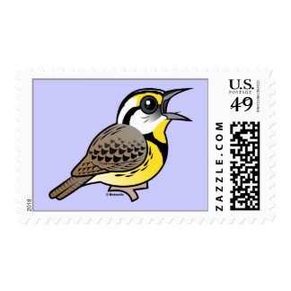 Singing Eastern Meadowlark Postage Stamp