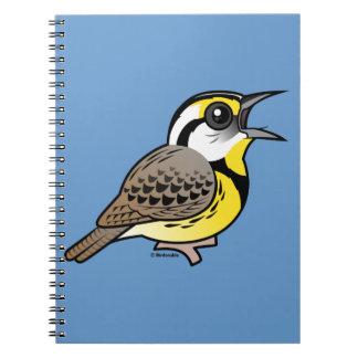 Singing Eastern Meadowlark Spiral Notebooks