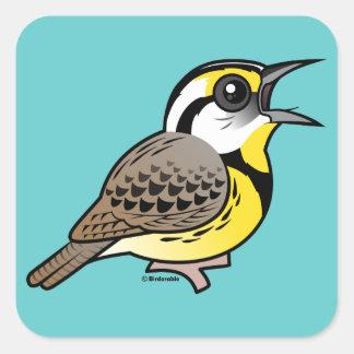 Singing Eastern Meadowlark Square Sticker