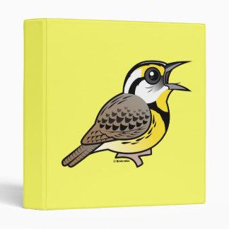 Singing Eastern Meadowlark Vinyl Binder