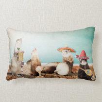 Singing Ferrets Lumbar Pillow