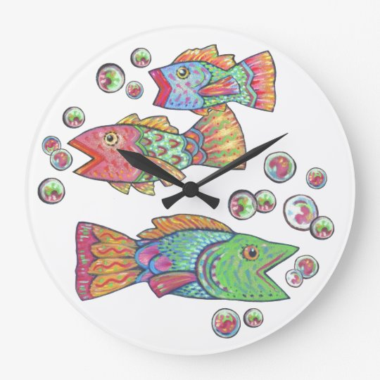 Lovely Singing Fish Large Clock Nice Ideas
