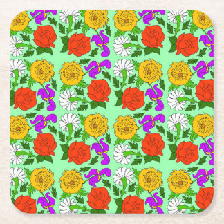 Singing Garden Square Paper Coaster