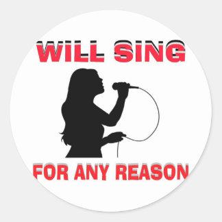 SINGING GIRL STICKER