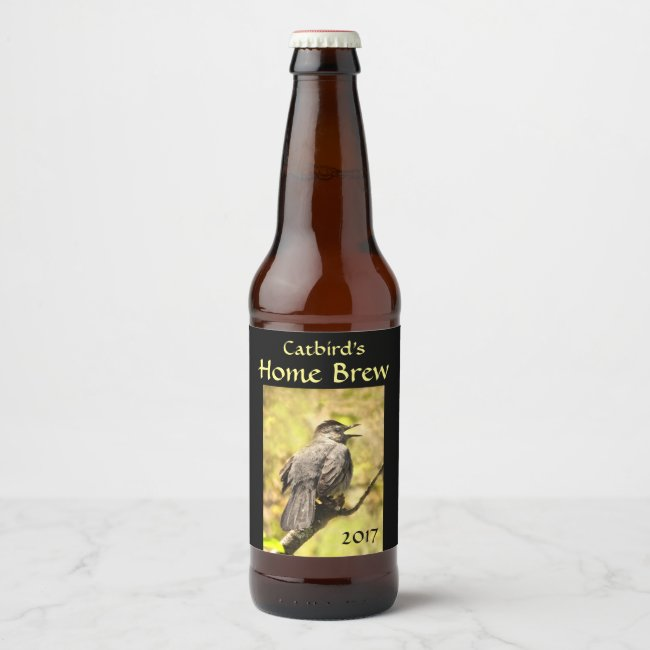 Singing Gray Catbird Animal Nature Beer Label