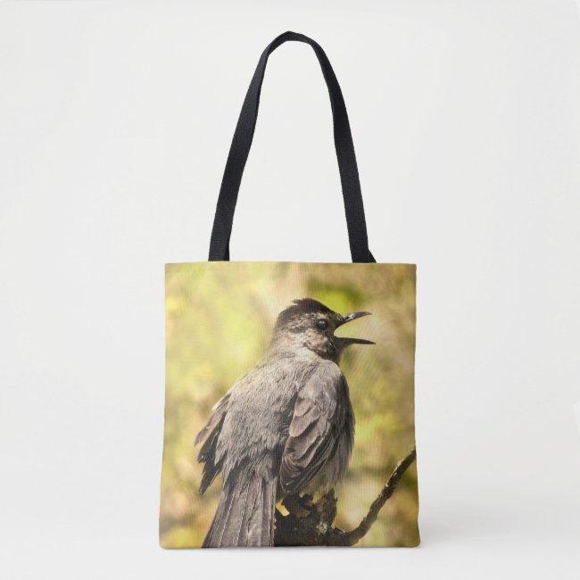 Singing Gray Catbird Tote Bag