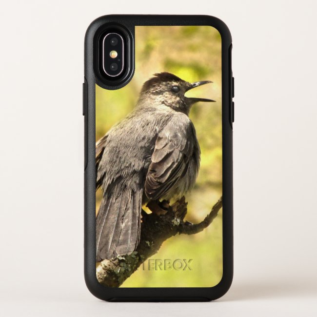 Singing Gray Catbird Yellow OtterBox iPhone X Case