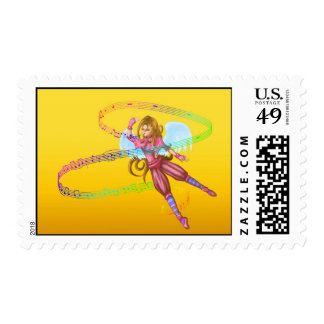singing growning child angel postage