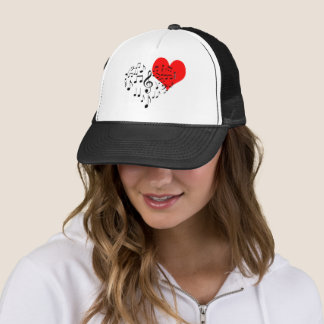 Singing Heart one-of-a-kind funny Trucker Hat