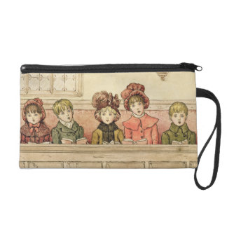 Singing in church (w/c on paper) wristlet