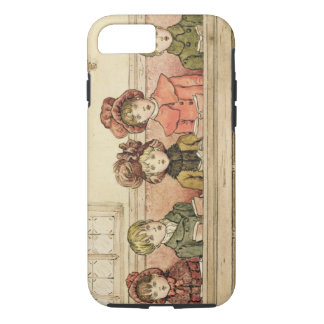 Singing in church (w/c on paper) iPhone 7 case