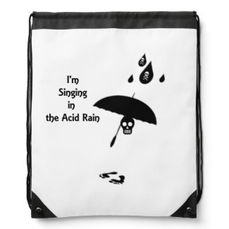 Singing In The Acid Rain Drawstring Bag