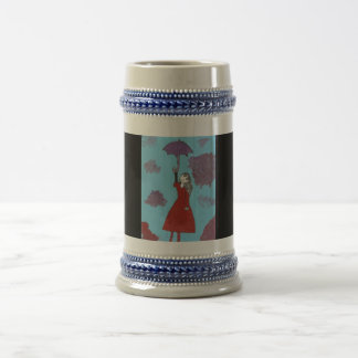 Singing in the Clouds, Gothic Umbrella Girl 18 Oz Beer Stein