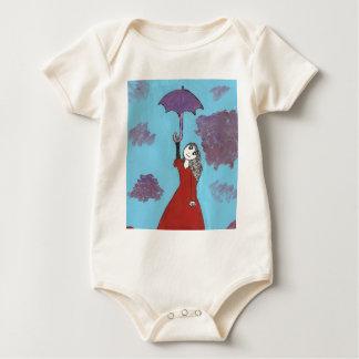Singing in the Clouds, Gothic Umbrella Girl Baby Bodysuit