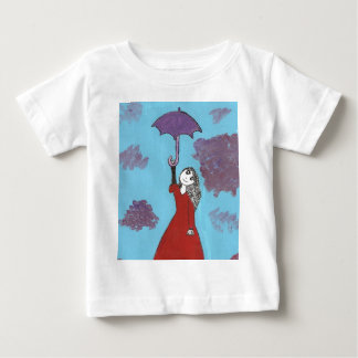 Singing in the Clouds, Gothic Umbrella Girl Baby T-Shirt