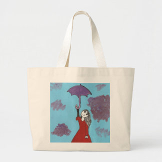 Singing in the Clouds, Gothic Umbrella Girl Canvas Bag