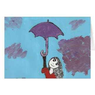 Singing in the Clouds, Gothic Umbrella Girl Card