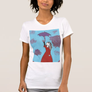 Singing in the Clouds, Gothic Umbrella Girl Tshirt