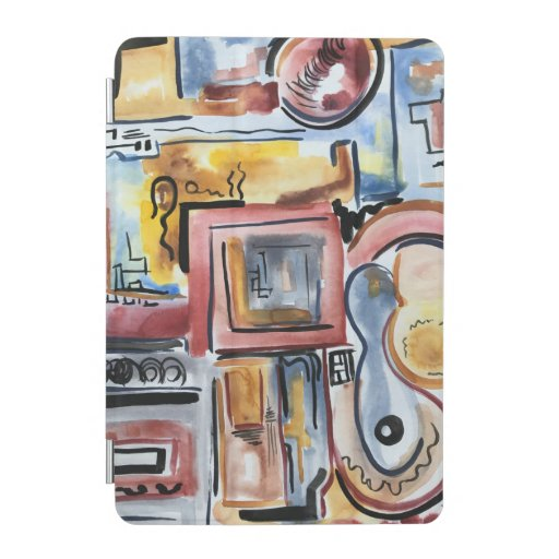 Singing In The Kitchen-Hand Painted Modern Art iPad Mini Cover