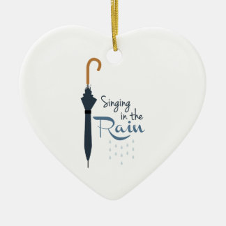 Singing in the Rain Ceramic Ornament