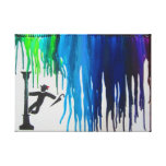 Singing in The Rain w/ Brick Border Gallery Wrapped Canvas