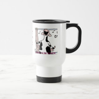 """""""Singing In The Shower"""" by E.S.G. 1952 15 Oz Stainless Steel Travel Mug"""