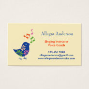 Singing Instructor Business Card at Zazzle