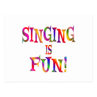 Singing is Fun Post Cards