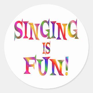 Singing is Fun Round Stickers