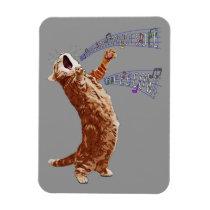 Singing Kitty 3x4 Magnet