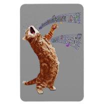 Singing Kitty 4x6 Magnet