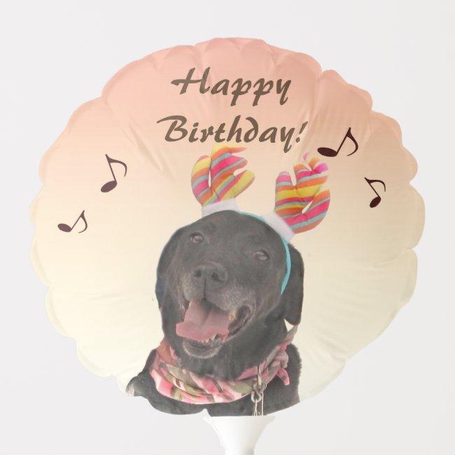 Singing Labrador Retriever Dog Birthday Balloon
